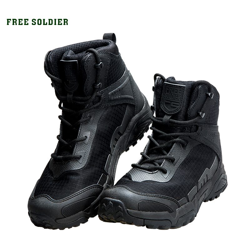 FREE SOLDIER outdoor sports tactical military men boots wear resistant shoes for hiking climbing camping