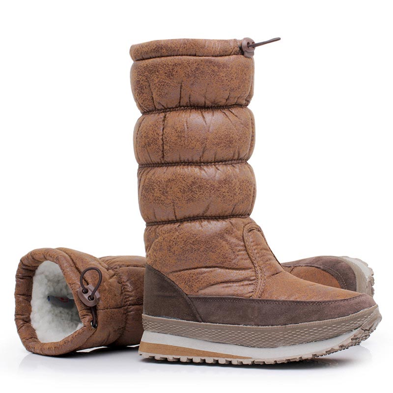Women boots 2017 new arrivals Waterproof Slip-resistant women winter shoes thick plush high quality warm snow boots dali 16 1 11в