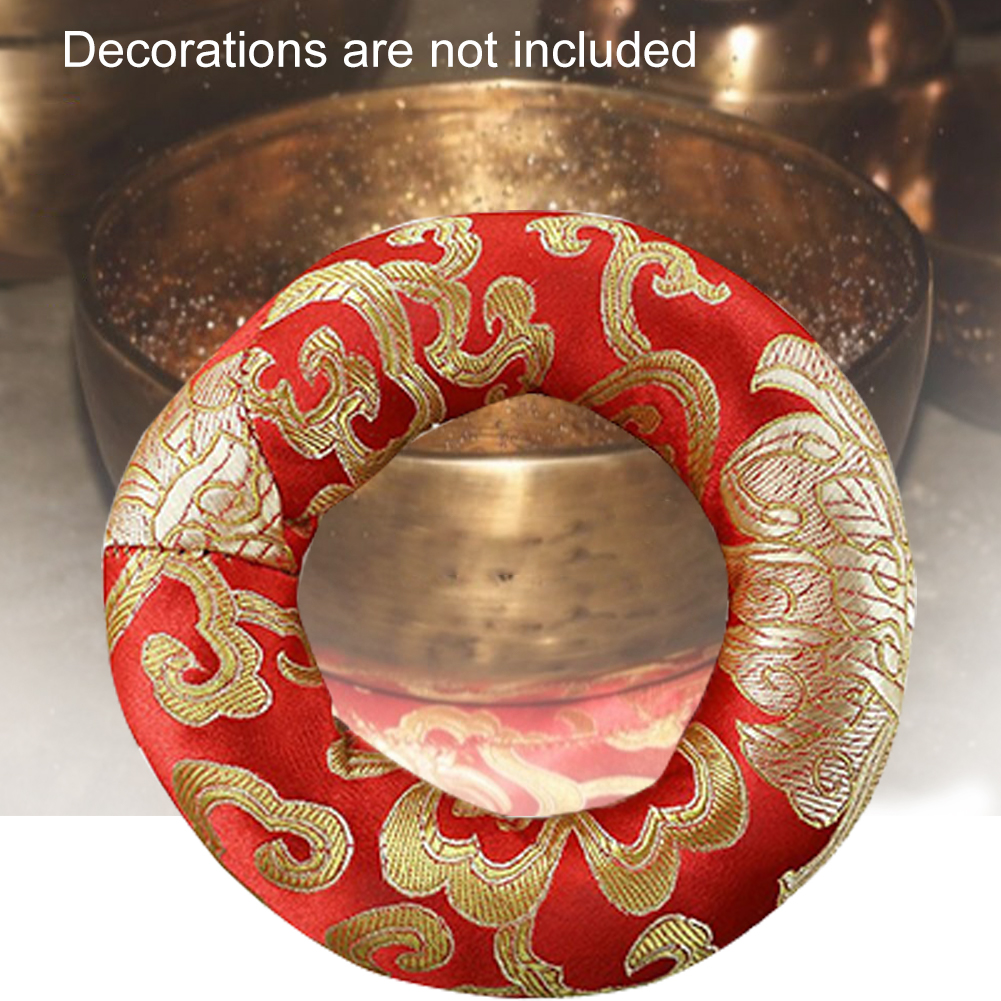 Decoration Round Portable Handmade Singing Bowl Cushion Tibetan Retro Buddhism Pillow Comfortable Cotton Blend Holder Ring Soft