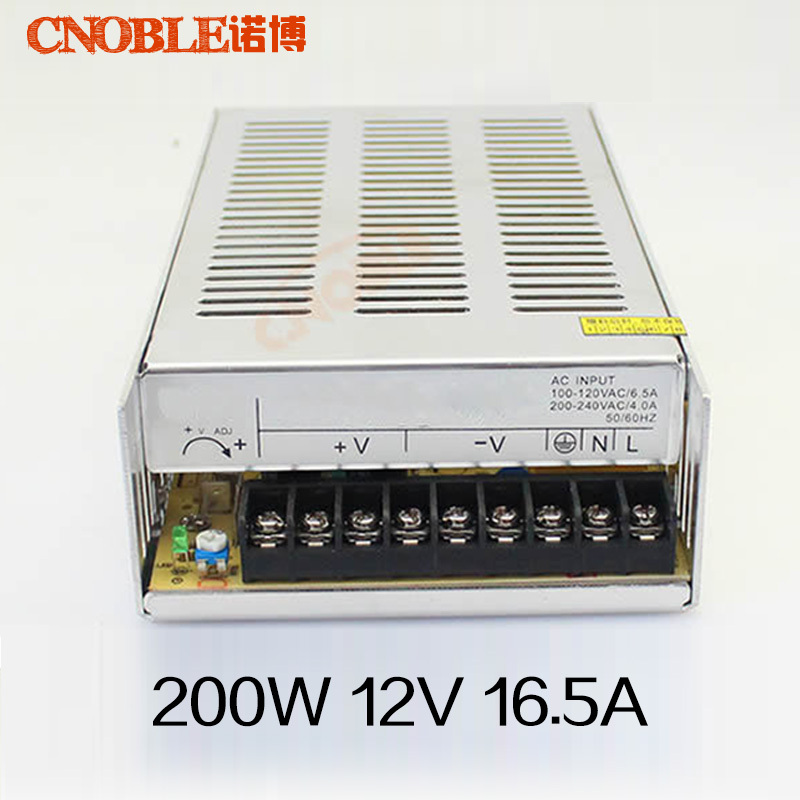 12V 16.5 A 200W switching power supply,12V 16.5A 250 watts power adapter,led strip transformer led driver transformer waterproof switching power supply adapter ac170 260v to dc48v 200w waterproof outdoor ip67 led strip