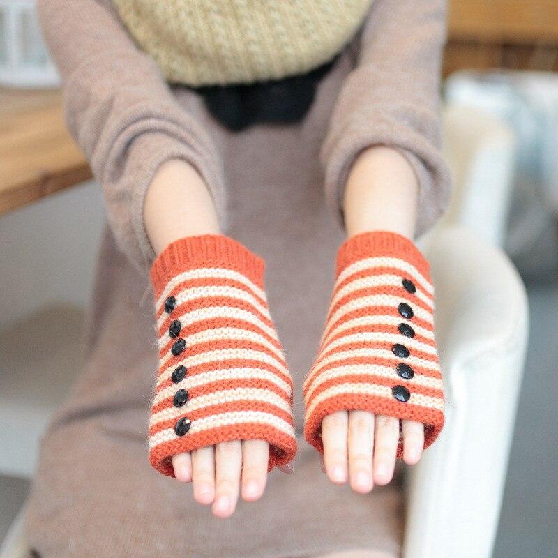 Humorvoll Mode Frauen Wolle Blends Stricken Handschuhe Flauschigen Handgelenk Arm Wärmer Halbhand Winter Handschuh Damen-accessoires Bekleidung Zubehör