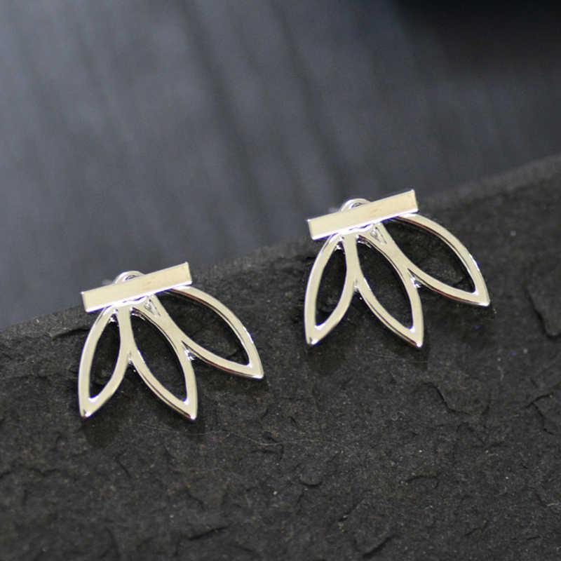 Mossovy srebrny frędzel kolczyki dla kobiet biżuteria z nausznikami złote klipsy kolczyki mankiety Oorbellen Pendientes Aretes De Mujer Brincos
