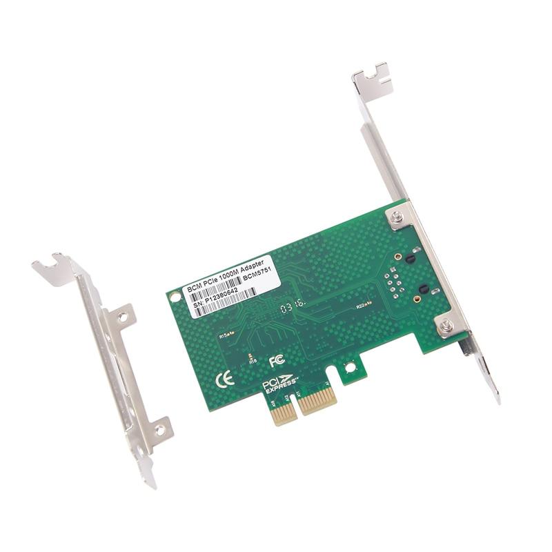 10Gtek BCM5751 Chip Gigabit Ethernet PCI-e Desktop Network Card NIC, - Kommunikationsutrustning - Foto 6
