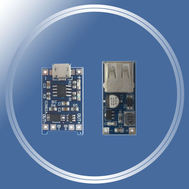 0.9 V ~ 5 V 600MA USB sortie chargeur Mini DC-DC Boost convertisseur + 1a batterie au lithium charge 18650 avec protection un module de plaque
