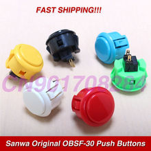 10x New Black 30mm Genuine Original Sanwa OBSF 30 Push Buttons For Arcade Video Game Consoles