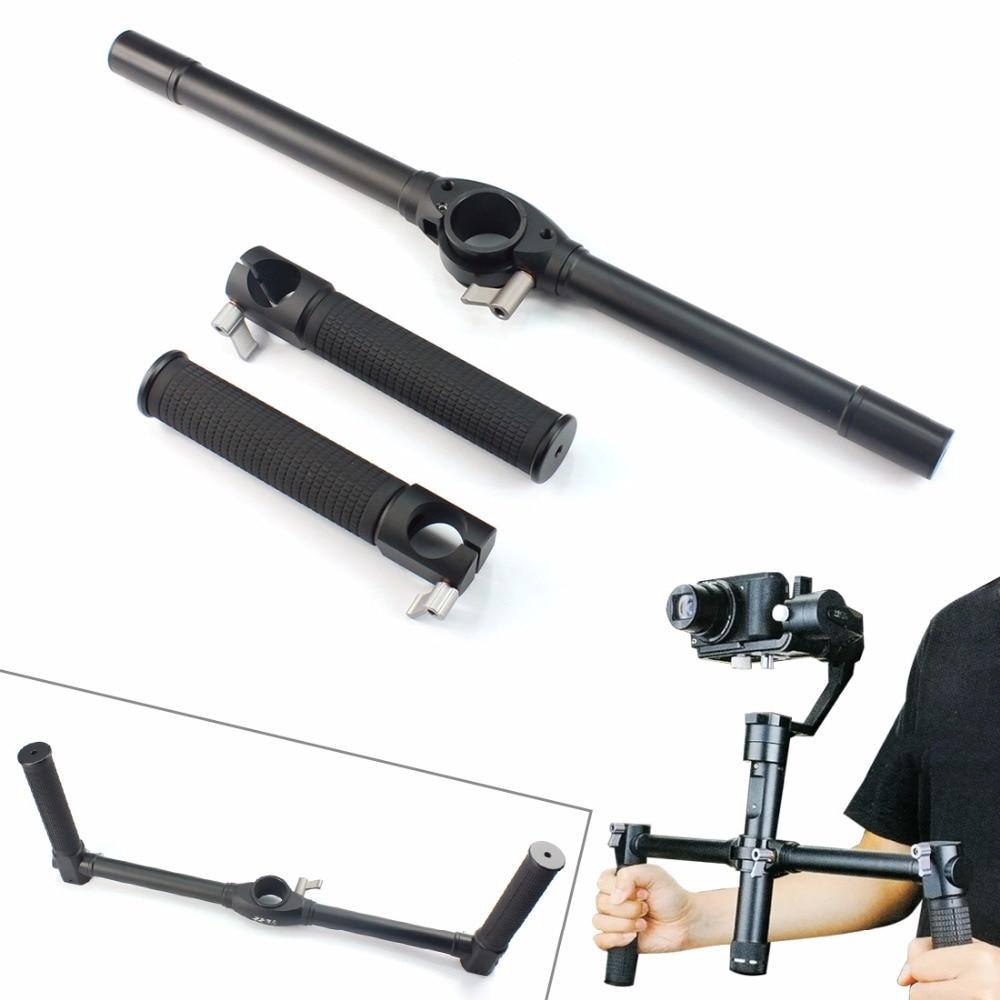 bilder für Zhiyun Kran Extended Griff Bar Dual Handheld Grip Bracket Kit Für Zhiyun Kran/Kran M Kamera Gimbal Zubehör F19647