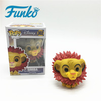 Original FUNKO POP Animation lion Wang Simba Action Figure Toys for Friend Children Birthday Gift Collection For Movie Fans