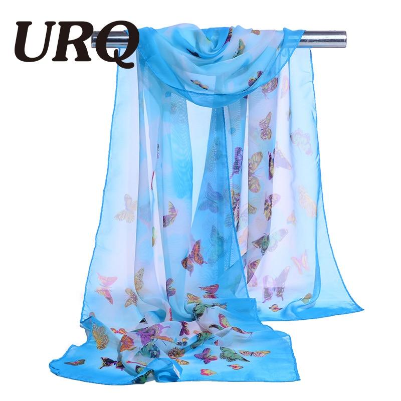 chiffon scarf print animal womes