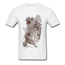 цена на Super Mario T-shirt Men Japan Style T Shirts Mushroom Kingdom Vintage Tops Tees White Monster Print Clothing High Street Guys