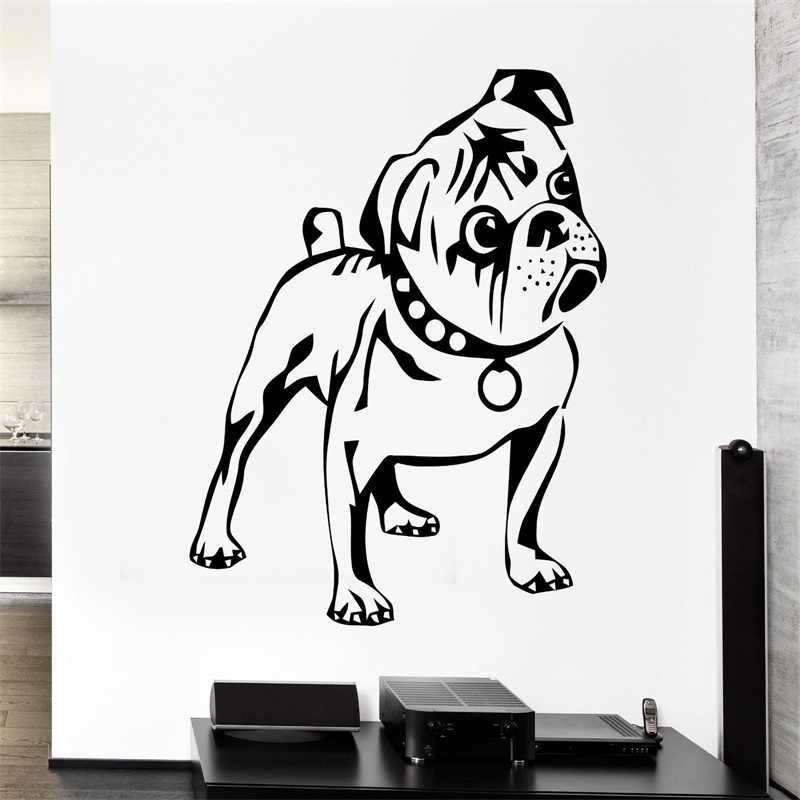 Dog Wall Stickers Puppy Animal Funny Kids Children Vinyl Decal