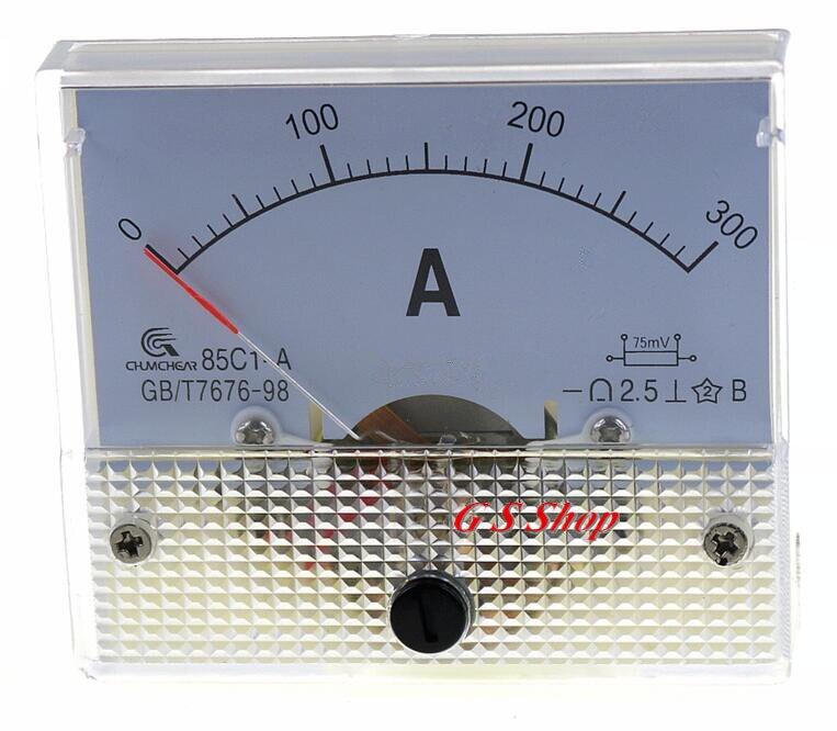 Тип 85C1-A, указатель постоянного тока, таблица токоизмерительных пластин 85C1series 0-300A