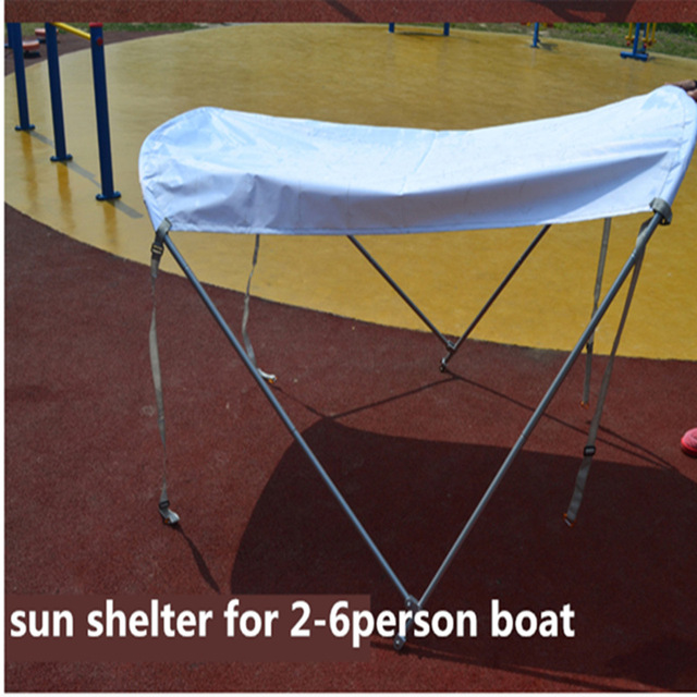 2-6person sun shelter for fish boat waterproof cloth sun shelter boat tent boat sunshade