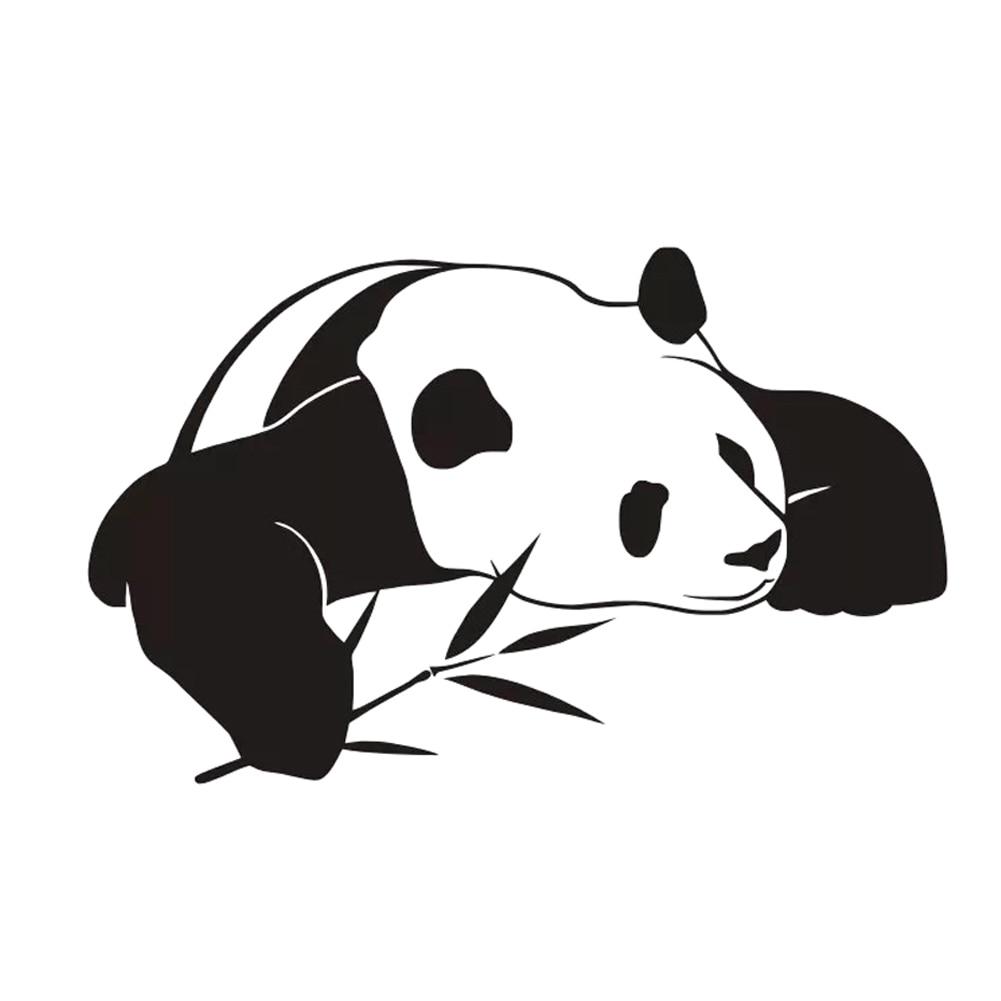 New Style Animal Home Decor Pvc Waterproof Self Adhesive Chinese Panda Wall Stickers Kids Bedroom Decoration