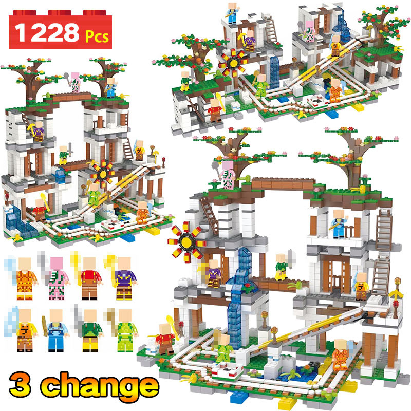 My World LegoINGLYS Minecrafter Institution Slide The Mine Figure Kids Educational Building Blocks Bricks Toys For Children Gift qigong legendary animal editon 2 chimaed super heroes building blocks bricks educational toys for children gift kids
