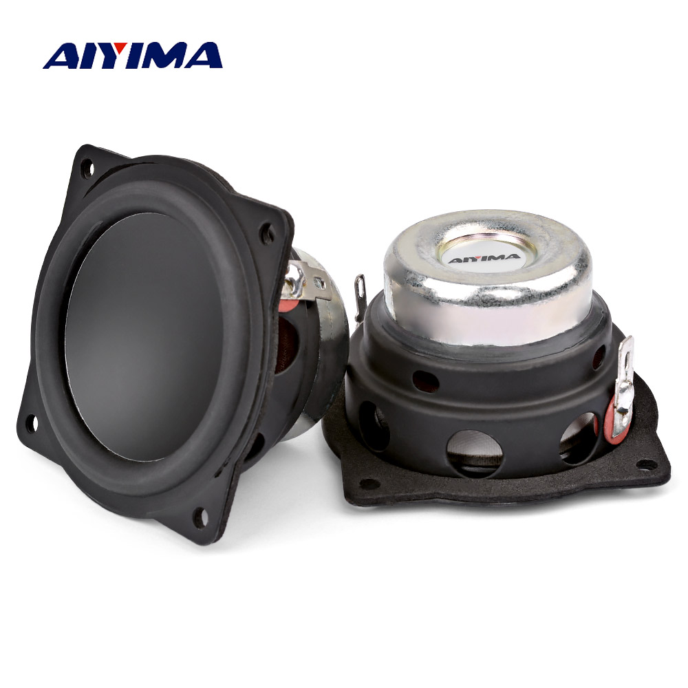 Aiyima 2 pçs Polegada mini alto-falantes portáteis de áudio 4ohm 20 w gama completa bluetooth alto-falante para diy teatro em casa