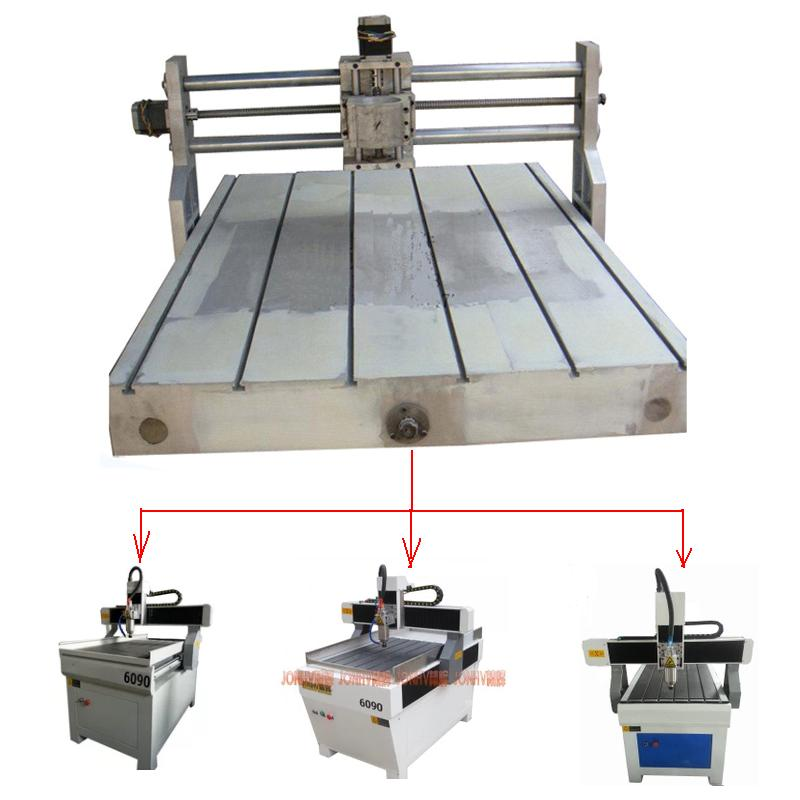 DIY wood lathe 6090 cnc router milling machine frame 600*900mm size suitable for 80mm spindle 2.2KW high precision router for wood cnc router machine 6090
