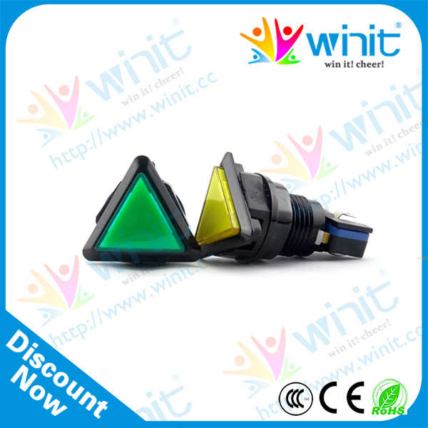 Triangle Push Button Switch With LED Light and Microswitch(50*50*50mm) Arcade Button Controller Illuminated