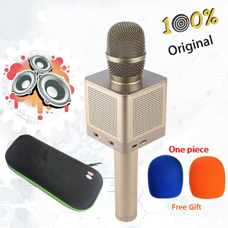цена DOITOP Original Q10S Wireless Karaoke Bluetooth Microphone Speaker Home KTV Karaoke MIC With 4 Speakers Voice Change For Phone