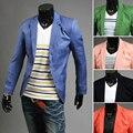 2013 terno masculino único breasted cor brilhante terno ocasional casaco personalizado moda vestuário de homem