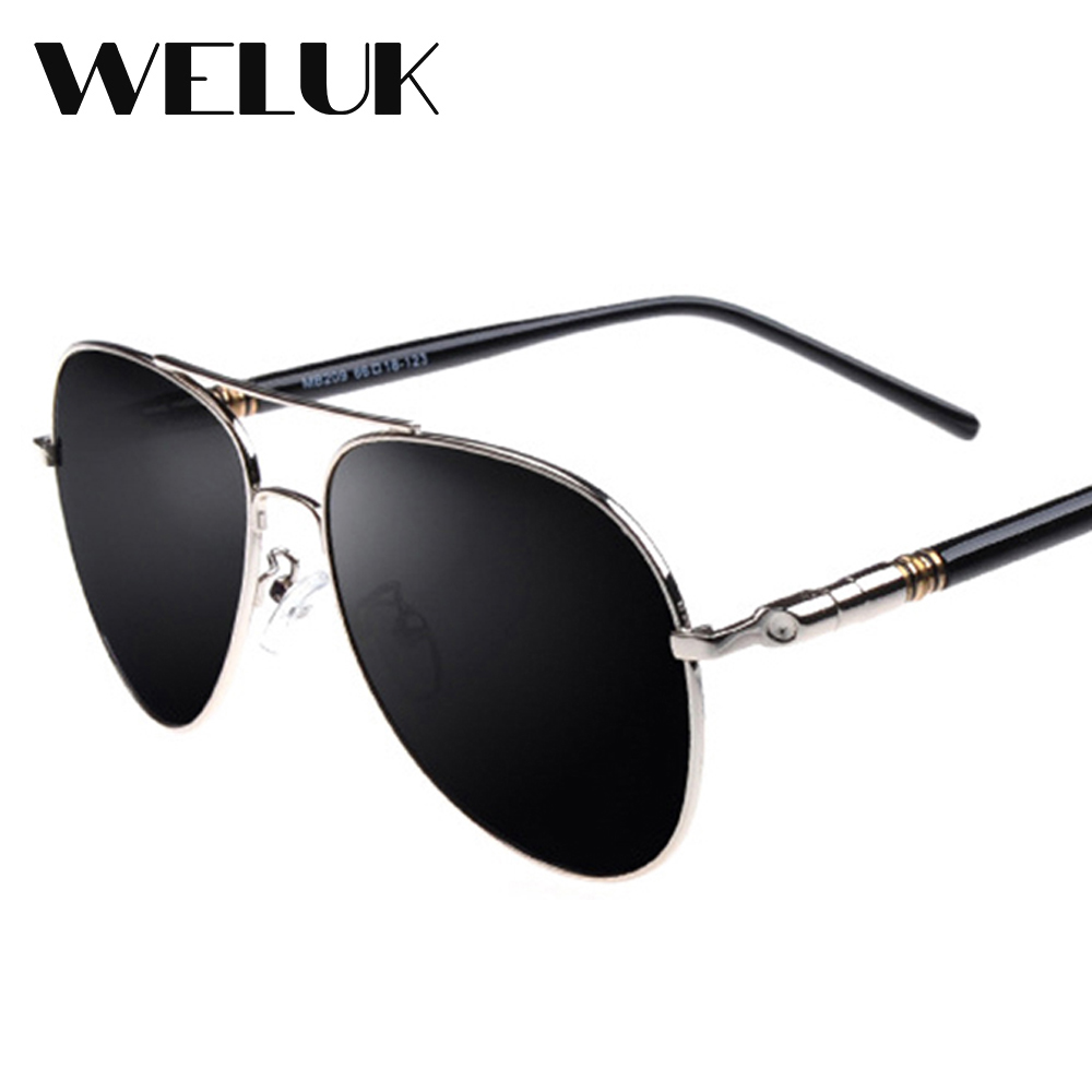 Sun glasses Shades Men Classic Pilot Sunglasses Polarized Aluminum Driving UV400 Silver
