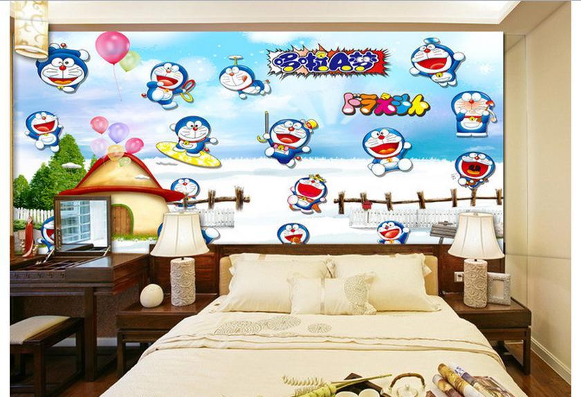 Customized 3d wallpaper 3d kids wallpaper murals Cartoon wall of setting of  the head of a
