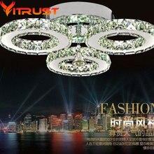 Stainless crystal ceiling lamps flush mount crystal ceiling light flush mount led ceiling light lustre de cristal teto