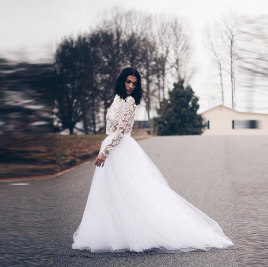 Style formel jupes de mariage femmes taille élastique une ligne longueur de plancher longue Maxi jupe personnalisée pur blanc Tulle taille Skir
