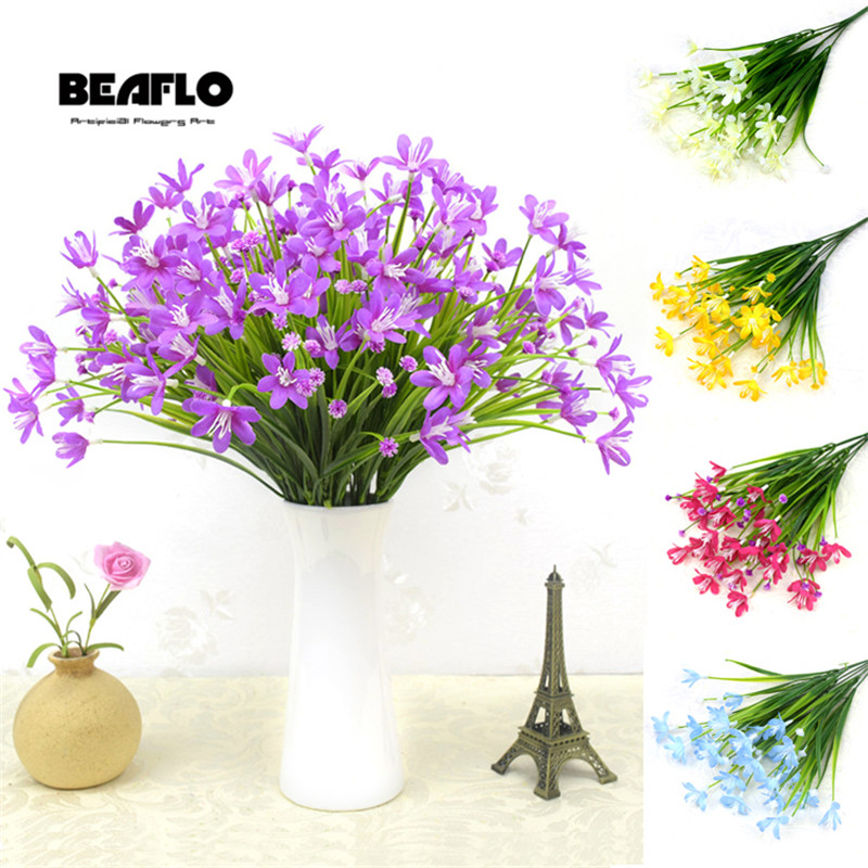 28 Heads//Bouquet Artificial Calla Lily Leaf Fake Flowers Plants Home Decoration