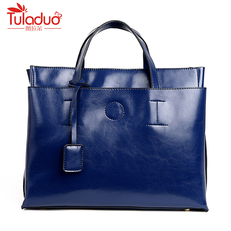 New Arrive Fashion Women Shoulder Bags High Quality Female Bag Large Capacity Genuine Leather Women Handbags Oil Wax Leather Bag new 2017 fashion brand genuine leather women handbag europe and america oil wax leather shoulder bag casual women