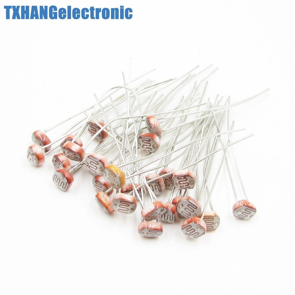 Top 5mm LDR CDS Arduino GL5516 Photoresistor Light-Dependent Resistor Sensor