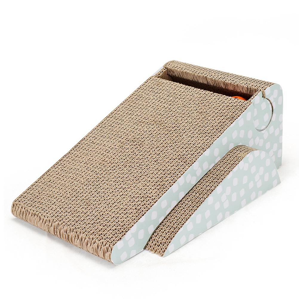 Adeeing 2-sided Pet Cat Scratch Board With Funny Bell Ball Scratching Pad Mat Pet Toy Claw Care