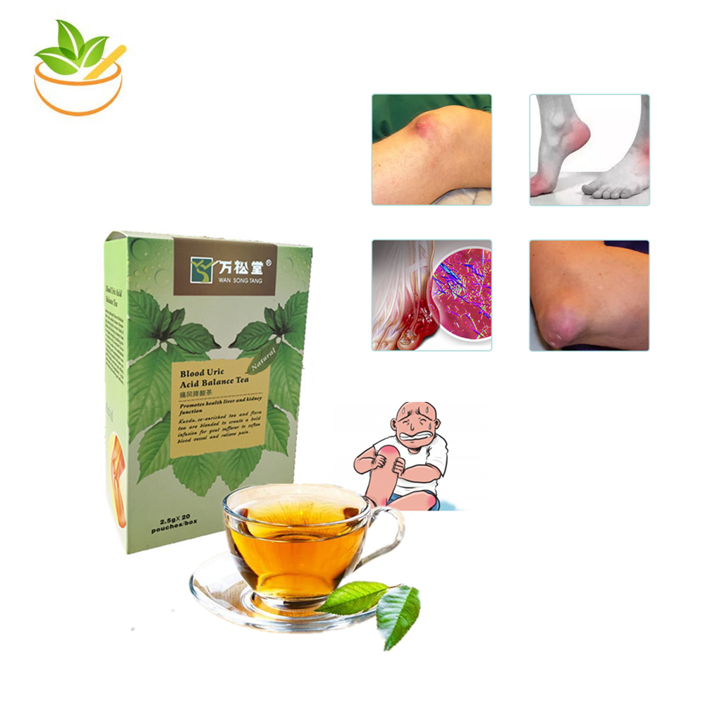 Pure Natural Blood Uric Acid Balance Tea Teabags Lower Uric Acid Treatment Gout Remedios Natural Acido Uric Gout Treatment