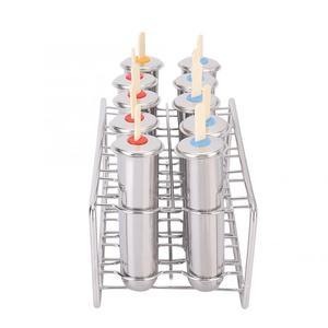 Image 5 - Moules à glace en acier inoxydable glacé, porte bâtonnet à crème glacée argenté bricolage à glace rond