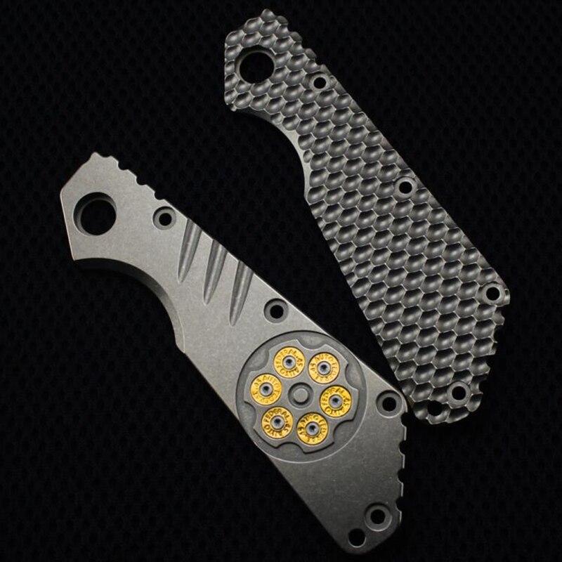 Bricolage Couteau sy outils SMF en alliage de titane TC4 couteau Tige patch poignée plaque 1 pièce