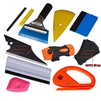 Kit de herramientas para el coche de raspador de vinilo EHDIS, herramienta de tinte de ventana de goma, herramientas para envolver la película del vehículo