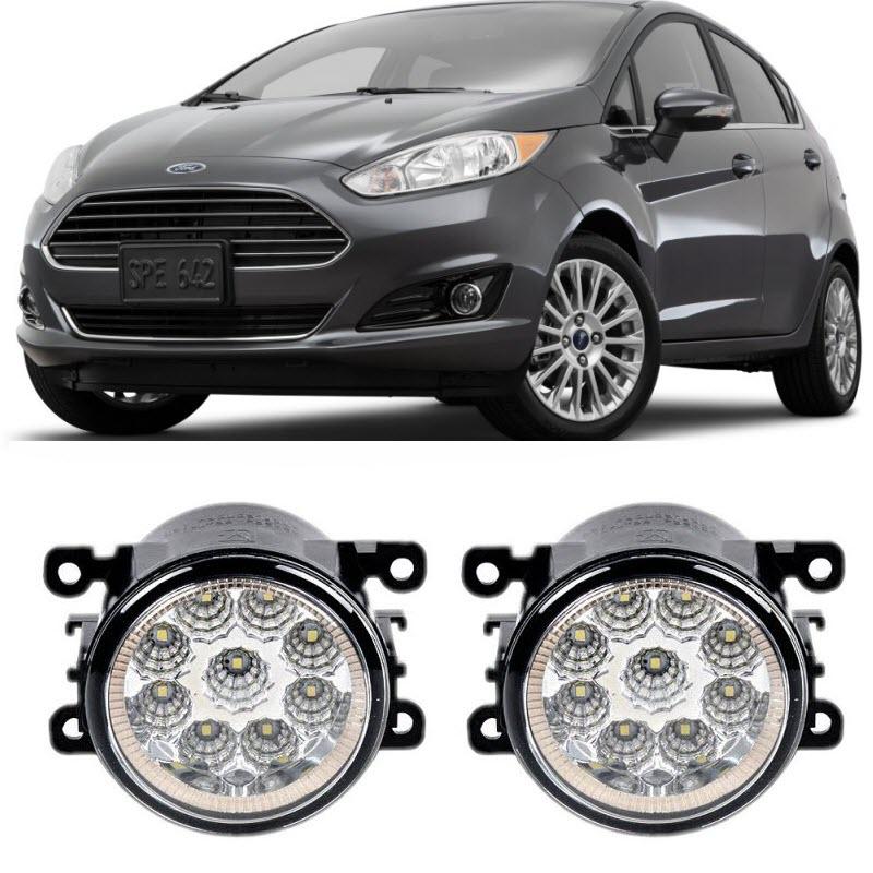 Car Styling For Ford Fiesta / Fiesta ST 2008-2016 9-Pieces Leds Fog Lights H11 H8 12V 55W LED Fog Head Lamp for lexus rx gyl1 ggl15 agl10 450h awd 350 awd 2008 2013 car styling led fog lights high brightness fog lamps 1set