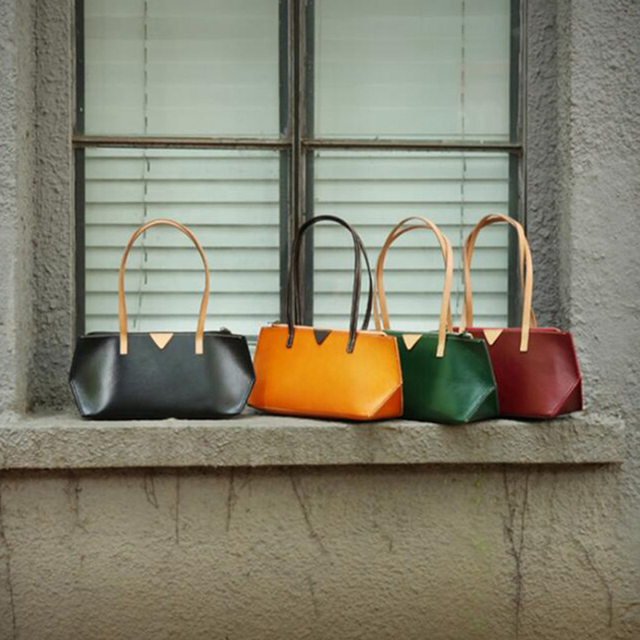 Genuine Leather Bag Handbags Women Cool Messenger Bags Las Small Shoulder Double Handle High Quality