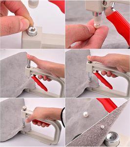 Image 4 - JUNAO Machine à fixer les perles blanches 4 5 6 8 10 12mm, outils à visser manuel, strass, Machine à rivets, bricolage pour lartisanat et les vêtements