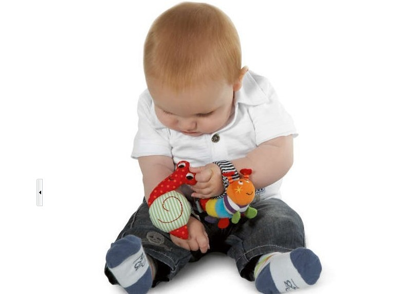 1piece Snail Wrist Watch Band Less Than 1 Year Old Baby Toys Bell