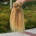 Nova chegada! Atacado de alta qualidade bonito do cabelo afro kinky curly cabelo weave barato 613 extensão do cabelo encaracolado 3 pacote