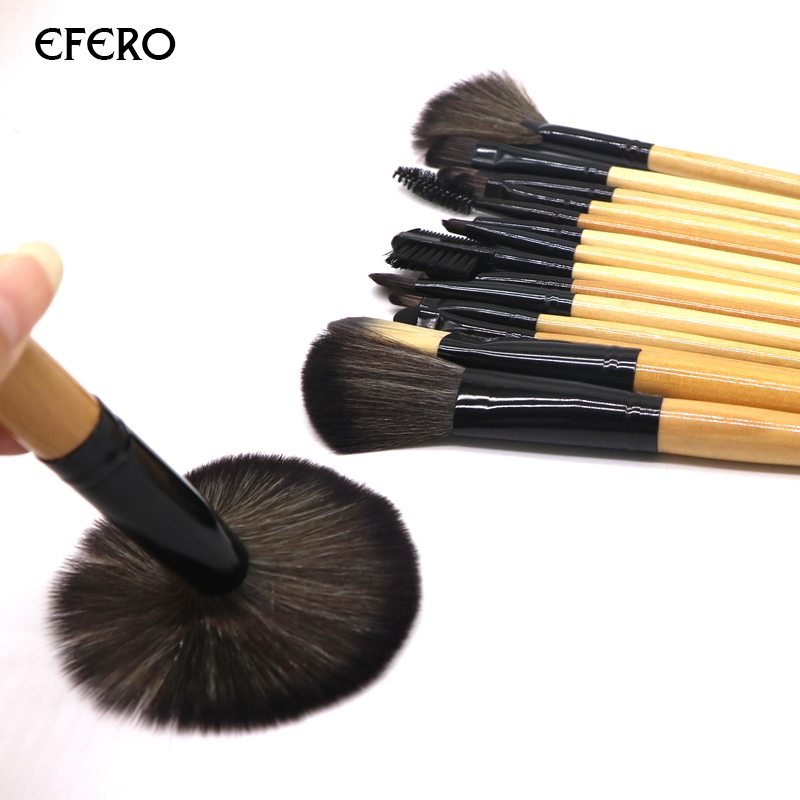 efero Makeup Brushes Kit Professional Beauty Make Up Tools Powder Brushes Concealer Blusher Synthetic Hair Cosmetic Brush 2 Sets professional 10 pcs soft synthetic hair make up tools kit cosmetic beauty makeup foundation brush beige sets 30