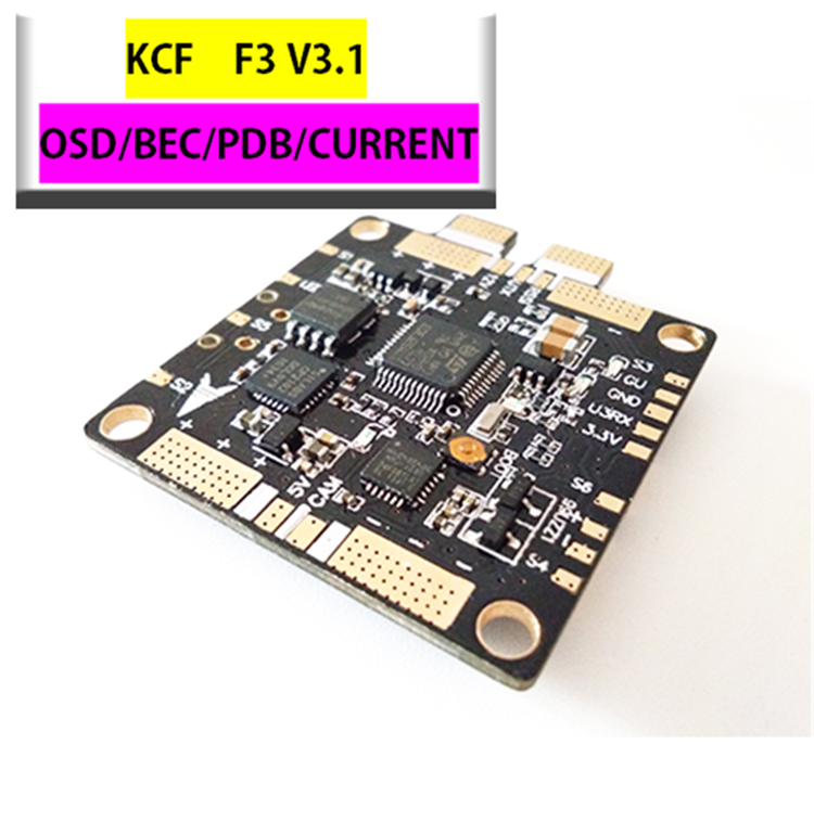 Flight Controller Board F3 V3.1 PRO FPV Power Distribution Board Integrated OSD Current Meter 12V 5V 3A BEC Output for Drone upgrated flytower f4 pro flight controller board integrated osd 40a 4 in 1 w transmitter esc for fpv drone spare parts