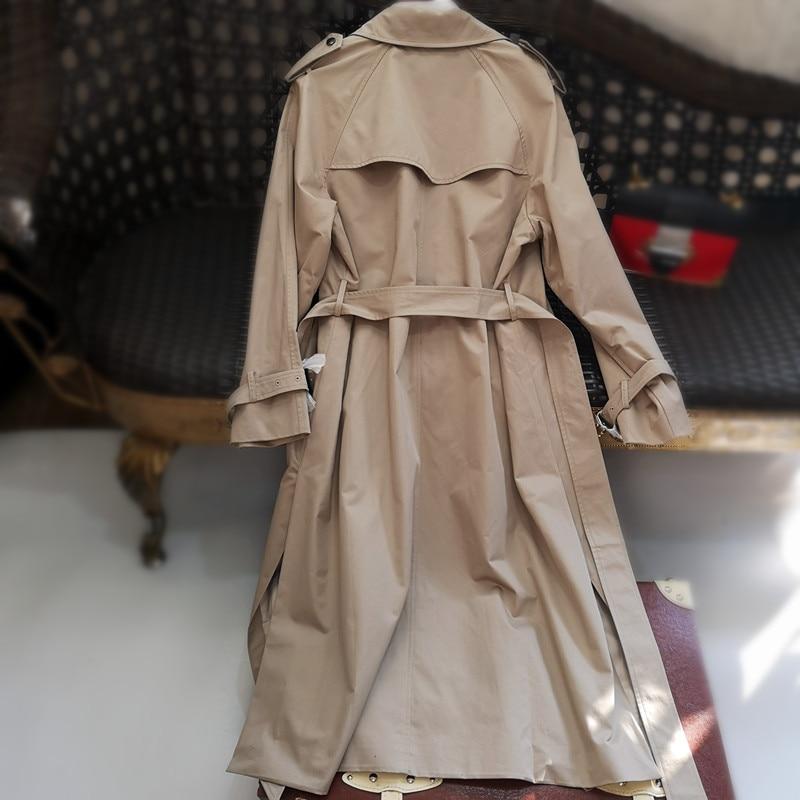 Mince Femmes Manteau L'eau Longueur 2019 Coat Moyen Printemps Survêtement Nouveau Coton Preuve Trench Double Britannique Breasted De 8qrqAxI