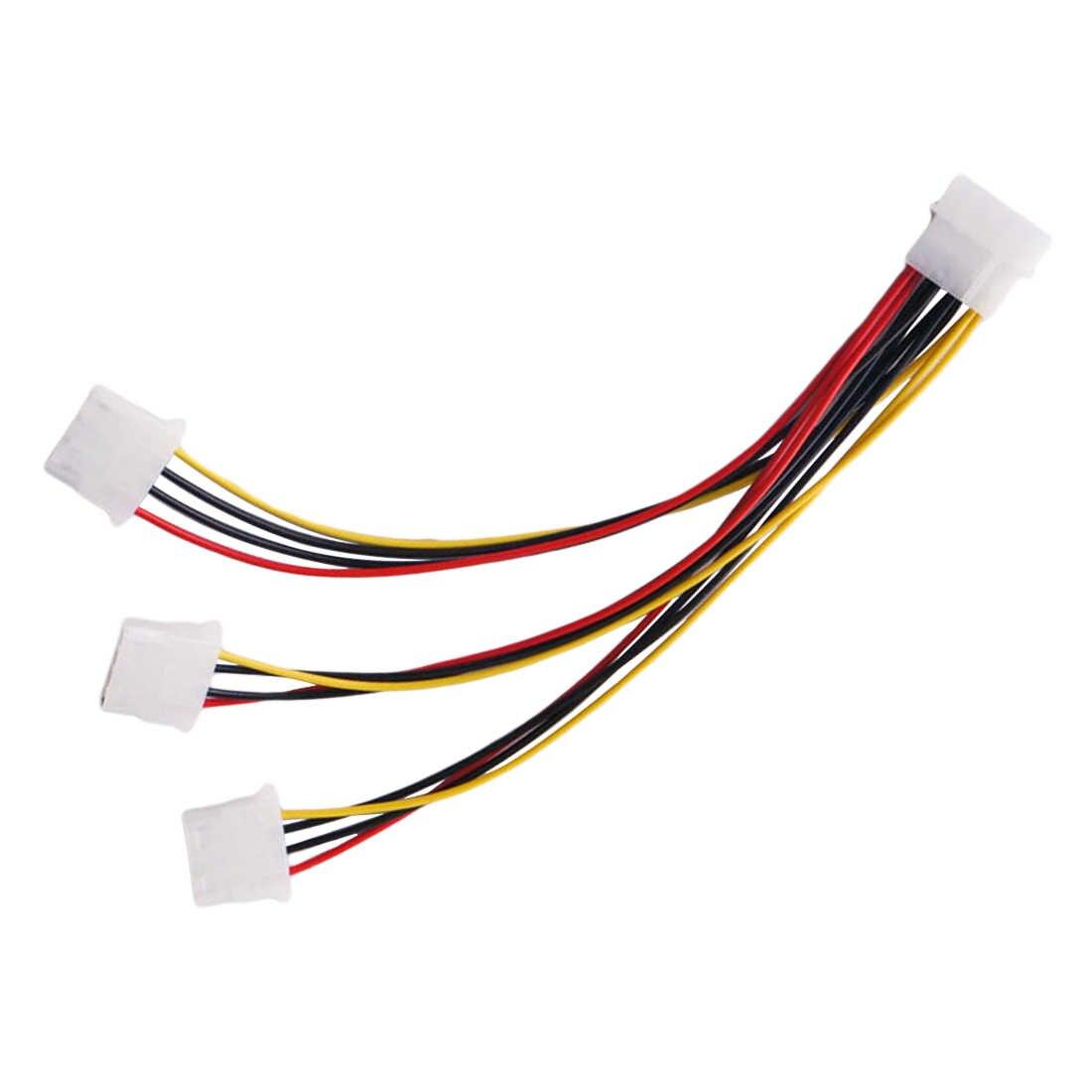 Hoge Kwaliteit 4Pin Ide Power Kabels HY1578 4 Pin Molex Male Naar 3 Poort Molex Ide Vrouwelijke Voeding Splitter adapter Kabel Hot