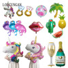 Hawaiian Flamingo Party Unicorn Foil Balloon Diy Wedding Decoration Bride Bridal Party Baby Shower Festive Event Party Supplies