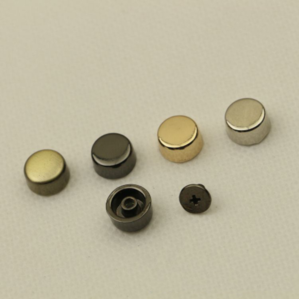 10Pcs /packs Bottom Studs Rivets For Leather Buttons Screw For Clothes Shoes Bags Hardware Belt Accessories For Bag Feet Screw
