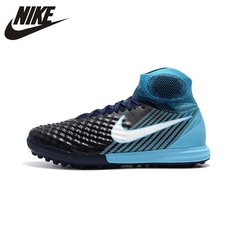 7a3f90ade0fc NIke MagistaX Proximo II TF Soccer Sneakers Blue Outdoor Lawn High Quality Men  Football Shoes 843958