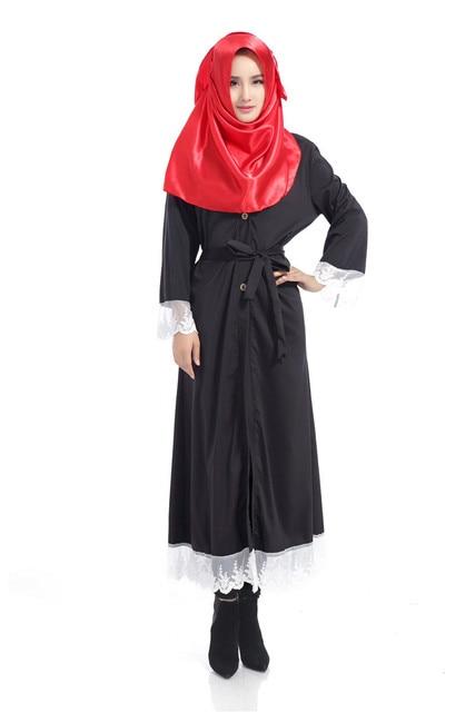 Muslim lace abaya cardigan djellaba turkish women slim clothing long coat  dubai fashion high quality cardigan 929007b74d00