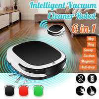 Rechargeable Smart Robot 2000PA Vacuum Cleaner Dry Wet Sweeping Cordless Auto Dust Sweeper Machine for Home Cleaning
