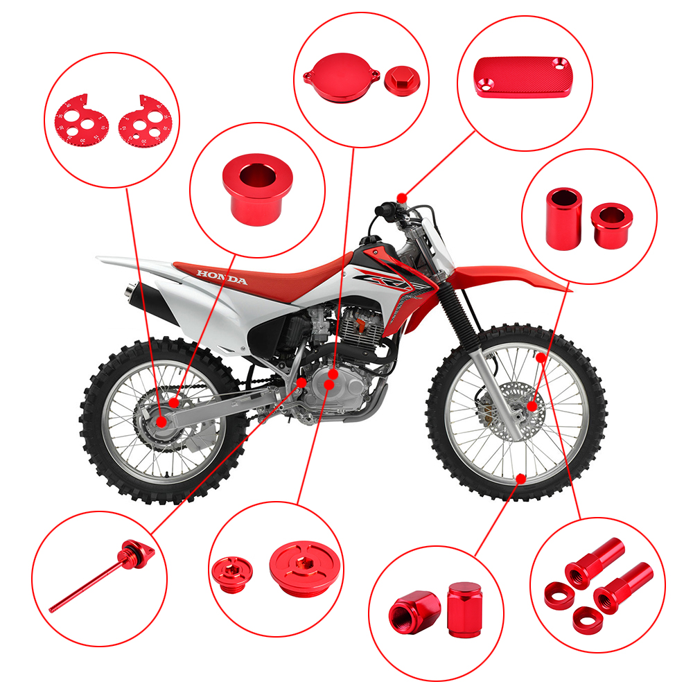 Motorcycle Accessories For Honda CRF230 CRF 230 2003-2017 2016 2015 Front Rear Spacer Tappet Cap Rim Lock Nuts Chain Adjuster